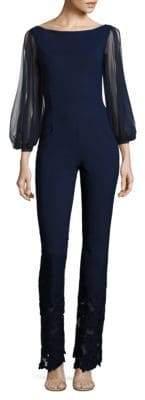 Chiara Boni Daul Cold-Shoulder Jumpsuit