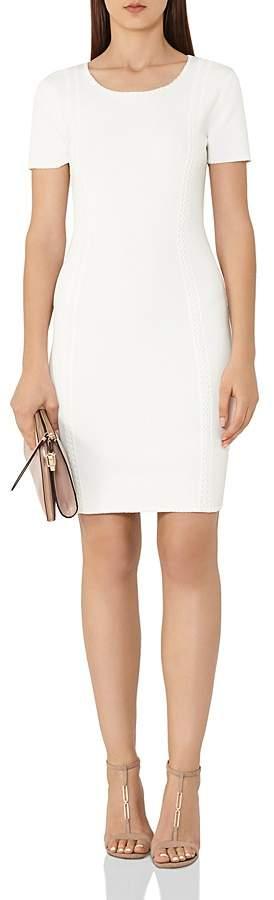 Reiss Skyler Embroidery-Detail Dress