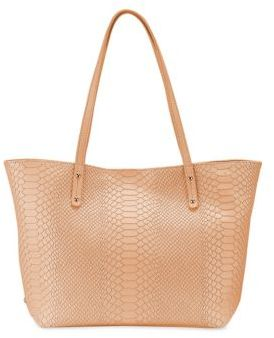 GiGi New York Mini Taylor Python-Embossed Leather Tote $278 thestylecure.com