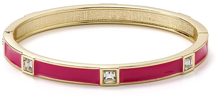 Sequin Crystal Enamel Hinge Bangle