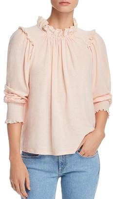 Rebecca Taylor Ruffle-Trimmed Top