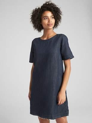 Gap Denim Shift Dress with Let-Down Hem