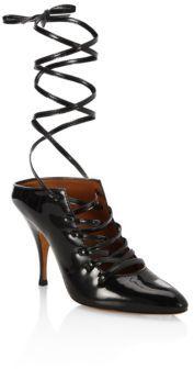 Givenchy Show Line Patent Leather Lace-Up Pumps