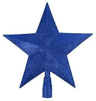 Midnight Blue Glitter Star Christmas Tree Topper (20Cm) By Premier