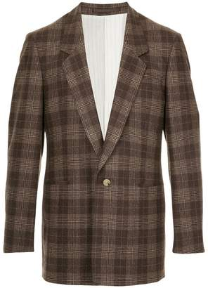 E. Tautz plaid fitted blazer