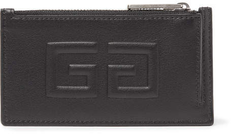 Givenchy Embossed Full-Grain Leather Zipped Cardholder