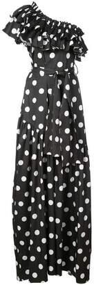 Caroline Constas Rhea polka dot dress