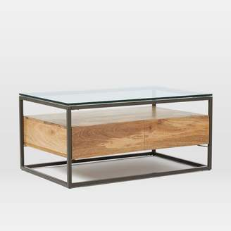 west elm Box Frame Storage Coffee Table - Raw Mango
