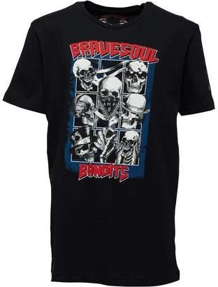 Brave Soul Junior Boys Bandit Graphic T-Shirt Black
