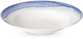 Lenox Indigo Watercolor Stripe Rim Soup Bowl