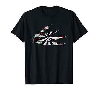 D+art's Ripped Dart Board Tshirt Darts Art Dart Player Gift Idea