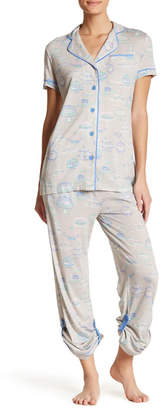 Munki Munki Bakery Two Piece Pajama Set $94 thestylecure.com