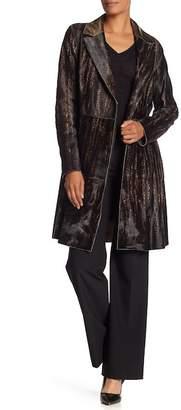 Elie Tahari Aliza Genuine Dyed Calf Fur Coat