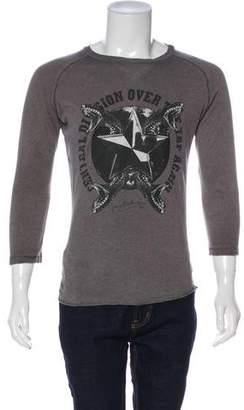 Pierre Balmain Snake Graphic Long Sleeve T Shirt
