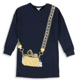 Little Marc Jacobs Little Girl's& Girl's Purse Graphic Sweater Dress