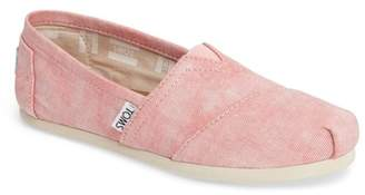 Toms Classic Alparagata Washed Twill Slip-On Flat
