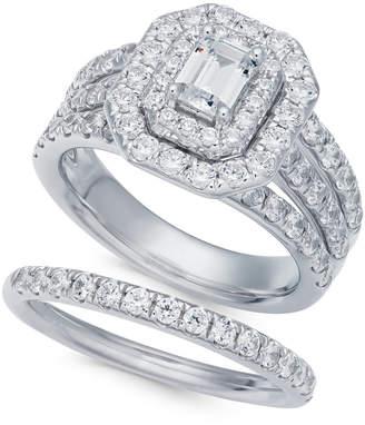 Macy's Diamond Halo Bridal Set (2-1/2 ct. t.w.) in 14k White Gold