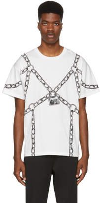 Moschino White Chain T-Shirt