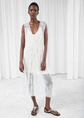 And other stories Plungling Oversized Lace Dress