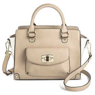 Merona; Women's Two Tone Satchel Faux Leather Handbag with Front Pocket and Removable... $39.99 thestylecure.com