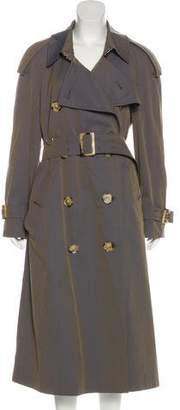 Burberry Belt-Accented Long Coat