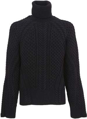 Alexander McQueen Cable Knit Turtleneck Sweater