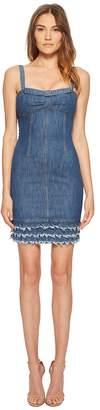 Moschino Denim Dress with Denim Fringe Women's Dress