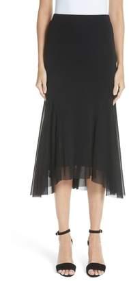 Fuzzi Curve Hem Tulle Skirt