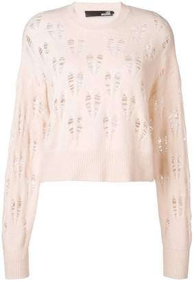 Love Moschino distressed heart jumper