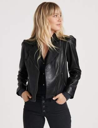Puff Sleeve Moto Jacket