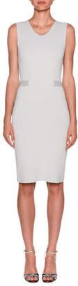 Giorgio Armani Stripe-Waist Crepe Jersey Sheath Dress