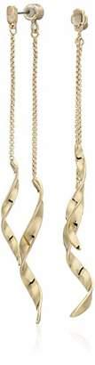 Kenneth Cole Sculptural Twist Front Back Earrings