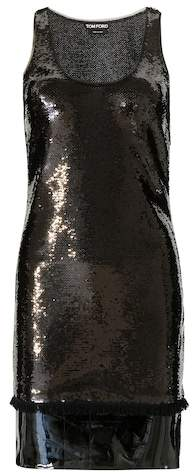 Tom Ford Embellished dress with patent leather