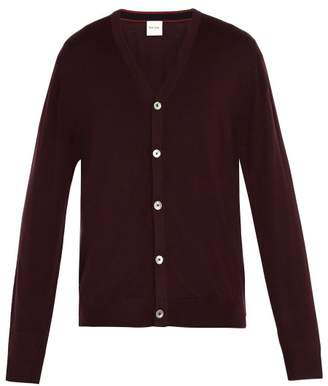 Paul Smith - Classic Wool Cardigan - Mens - Burgundy
