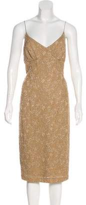 Carmen Marc Valvo Embellished Lace Dress w/ Tags