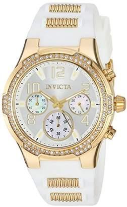 Invicta Women's 'BLU' Quartz Gold-Tone and Silicone Casual Watch