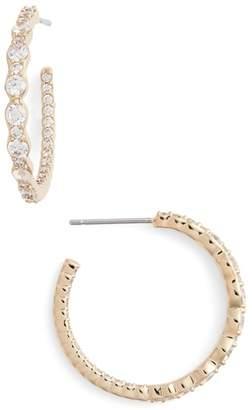 Nadri Georgian Cubic Zirconia Hoop Earrings