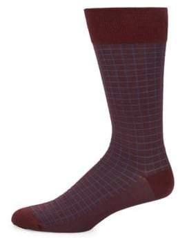 Bruno Magli Windowpane Dress Socks