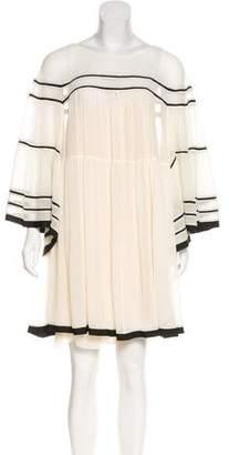 Chloé Silk Plissé Dress