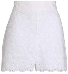 Kate Spade Broderie Anglaise Cotton Shorts
