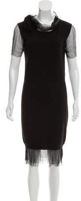 Lanvin Knit Paneled Dress
