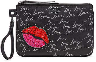 Victoria's Secret Victorias Secret Lip Script Night Out Wristlet