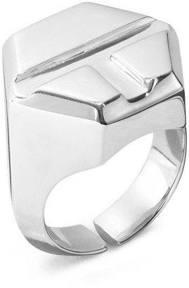 Tory Burch STERLING SILVER SCREW-TOP RING