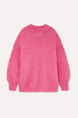 The Knitter - The Bubblegum Mohair-blend Sweater - Pink