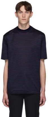 Lanvin Blue High Collar T-Shirt