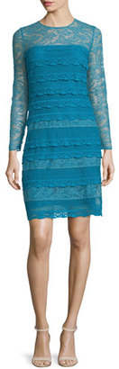 Burberry Prorsum Long-Sleeve Lace Sheath Dress, Light Cornflower Blue $2,995 thestylecure.com
