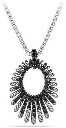 David Yurman 34mm Tempo Black Spinel Pendant Necklace