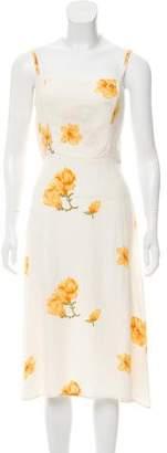 Reformation Sleeveless Printed Dress