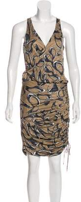 Halston Printed Knee-Length Dress