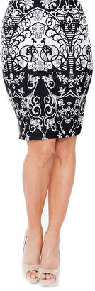 WHITE MARK White Mark Stretchy Material Pencil Skirt